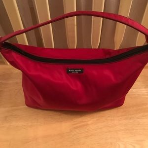 Authentic Kate Spade Ruby Red Nylon Purse